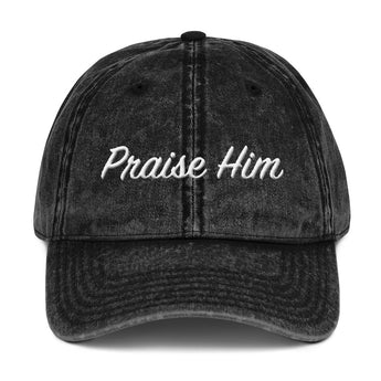 Praise Him Vintage Cotton Twill Cap