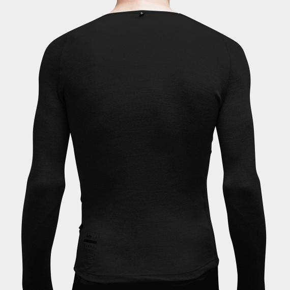 100% Merino Long Sleeve Baselayer Black - Maats
