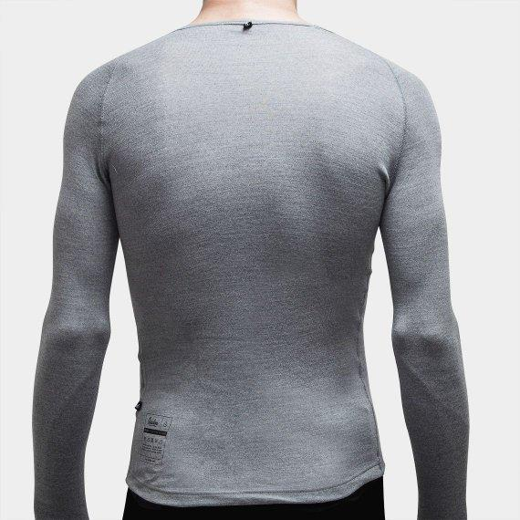 100% Merino Long Sleeve Baselayer Grey - Maats
