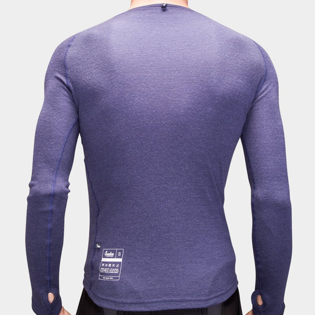 100% Merino Long Sleeve Baselayer Maritime Blue - Maats