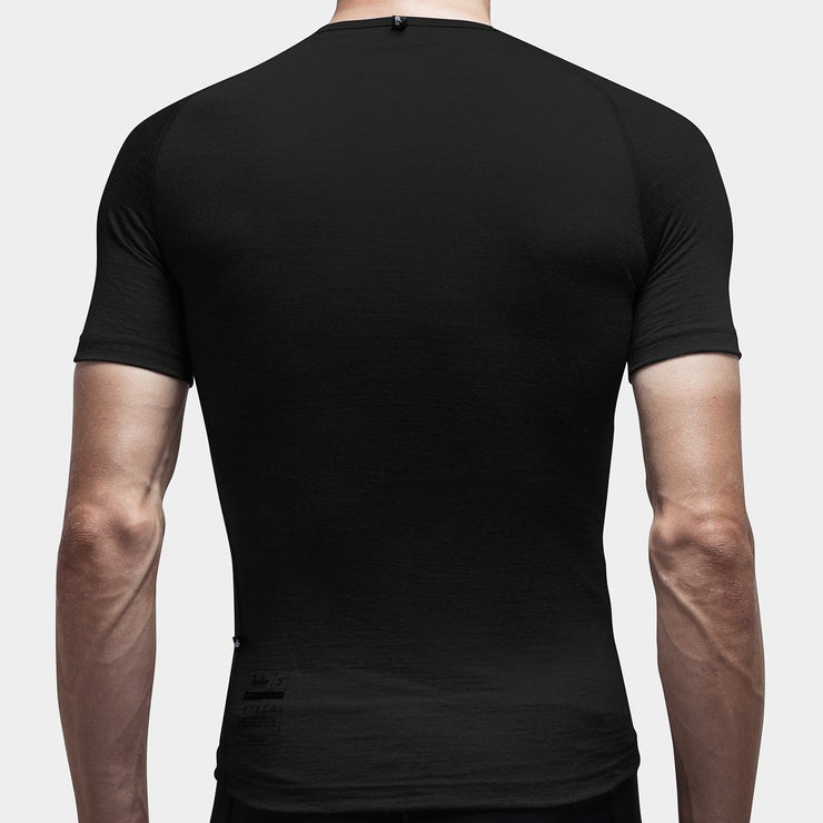 100% Merino Short Sleeve Baselayer Black - Maats