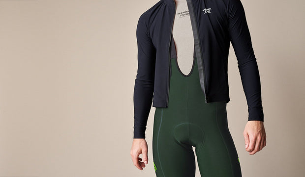 Control Fleece Bib Shorts Dark Green - Maats