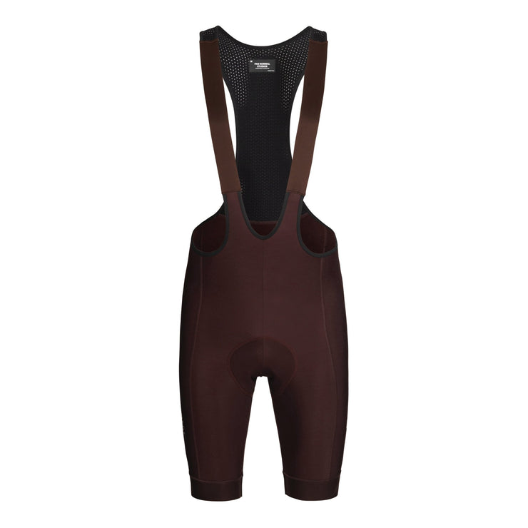 Control Fleece Bib Shorts Dark Red - Maats