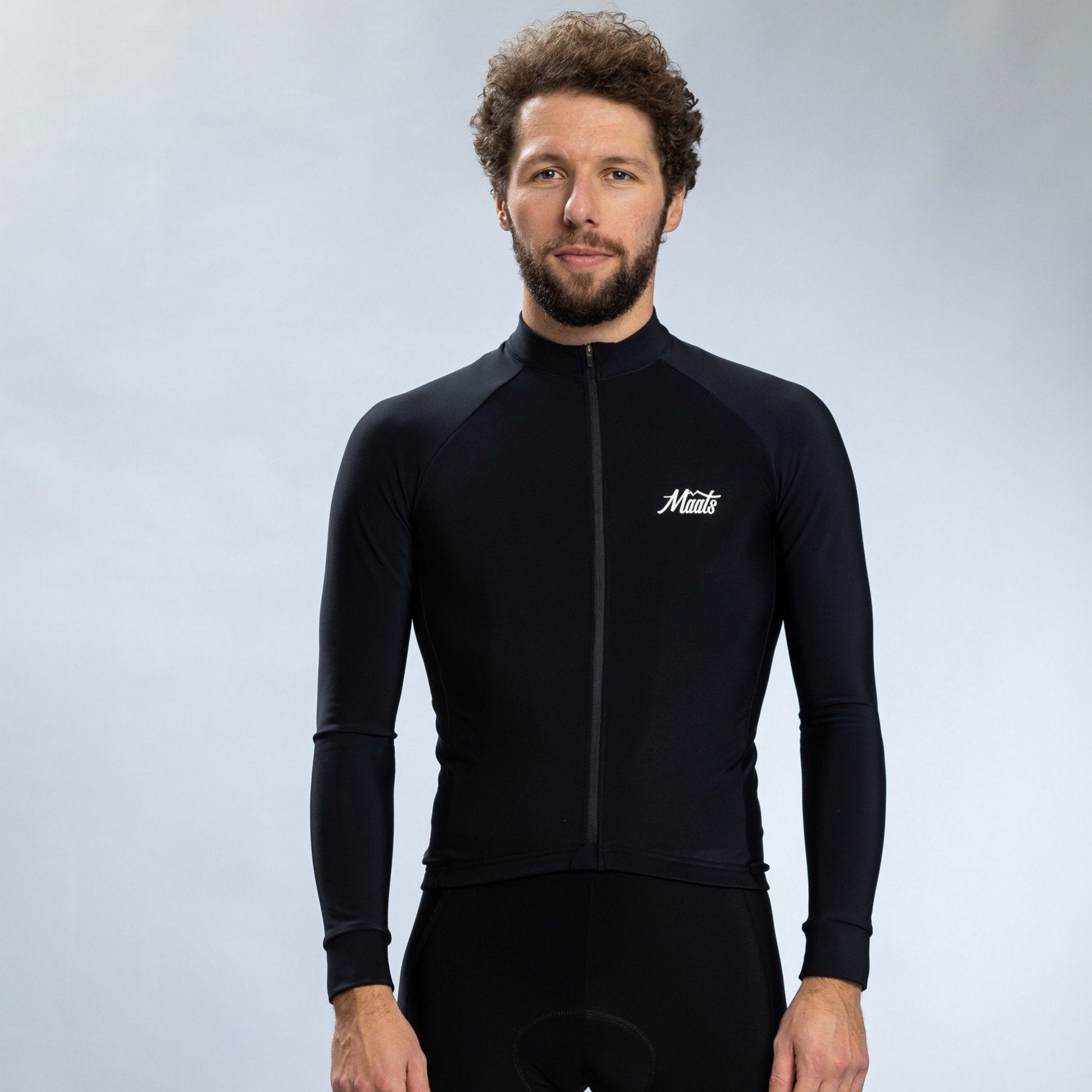 Long Sleeve Jersey Black - Maats
