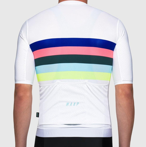 New Worlds Pro Hex Jersey White - Maats