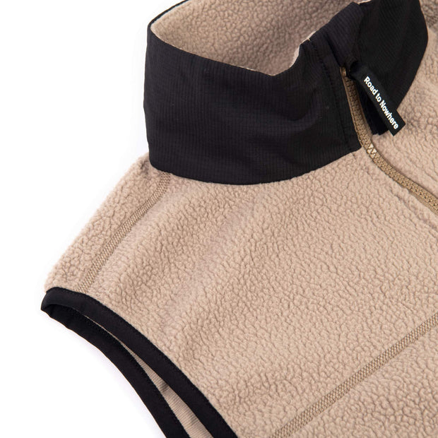 Off-Race Fleece Gilet Beige - Maats
