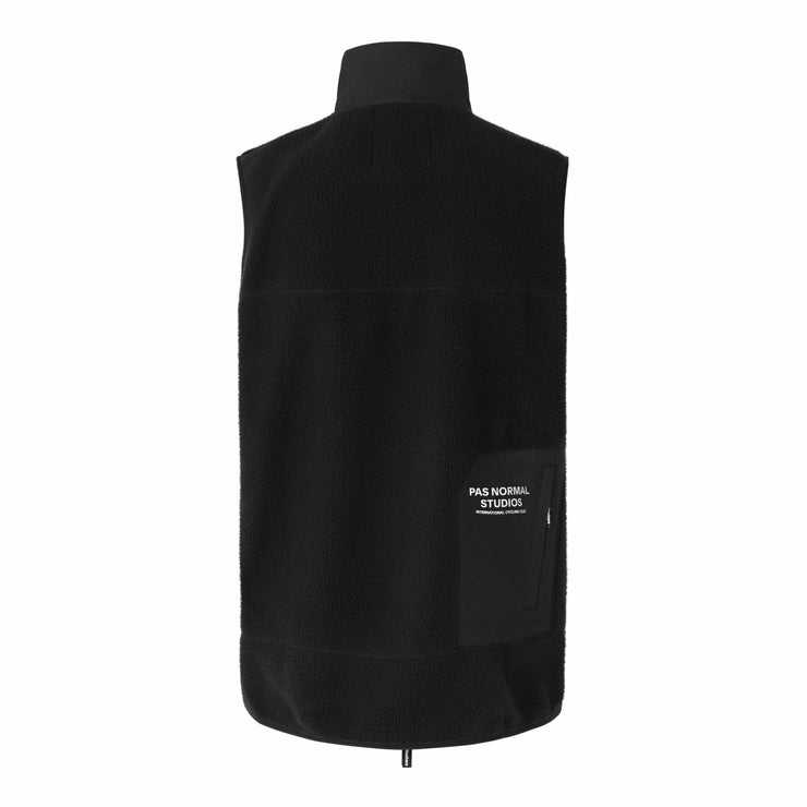 Off-Race Fleece Gilet Black - Maats