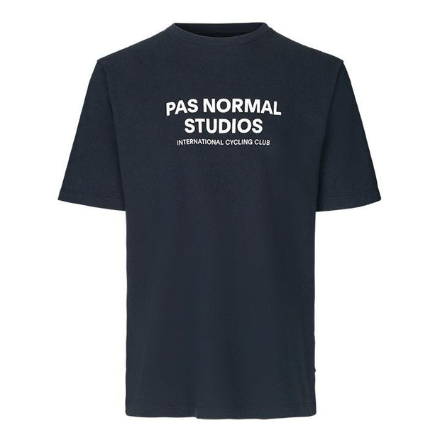 Pas Normal Studios Logo Navy T-Shirt - Maats