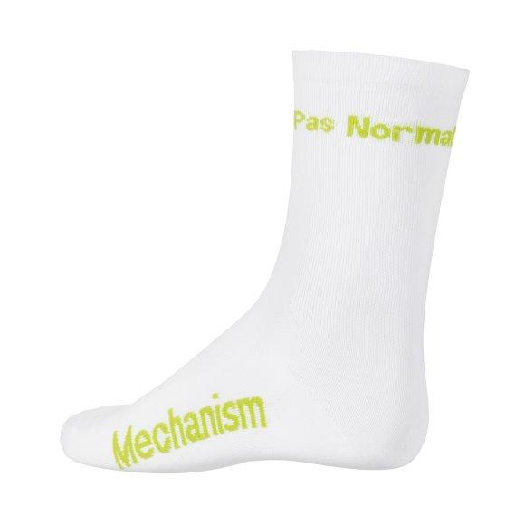 Pas Normal Studios Socks White/Bright Lime - Maats