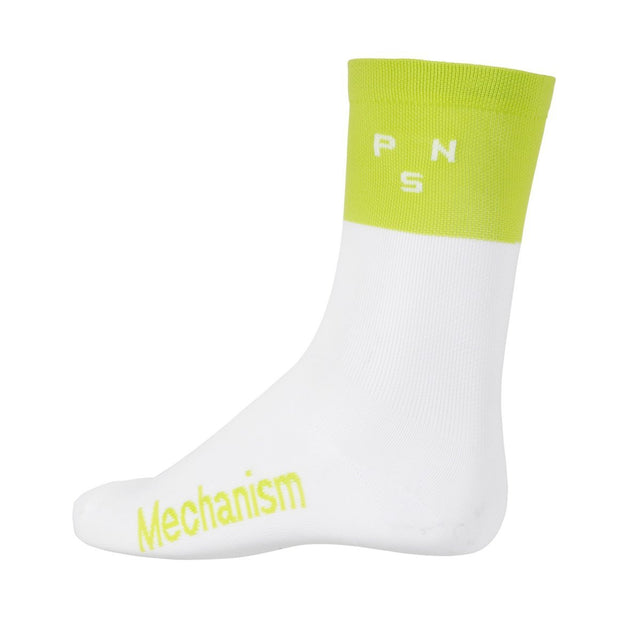 PNS Logo Block Socks Bright Lime - Maats