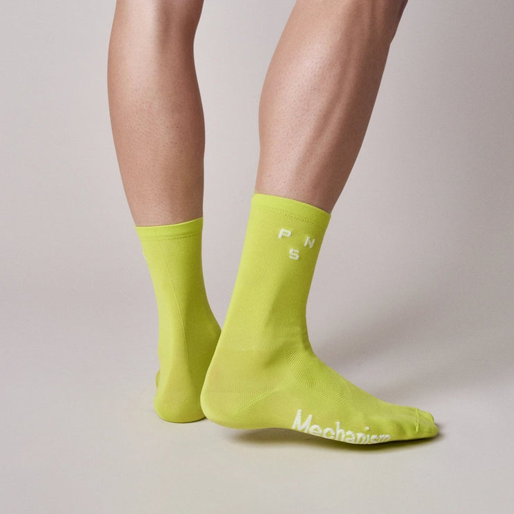 PNS Logo Socks Bright Lime - Maats