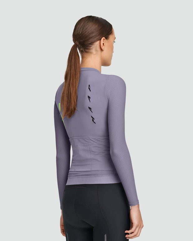 Women's Evade Pro Base Long Sleeve Jersey Purple Ash - Maats