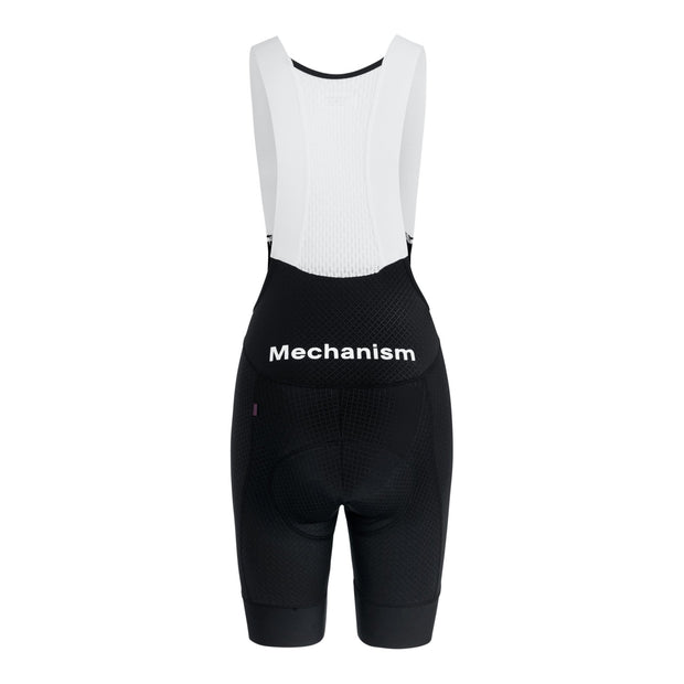 Women's Mechanism Bib Shorts Black - Maats