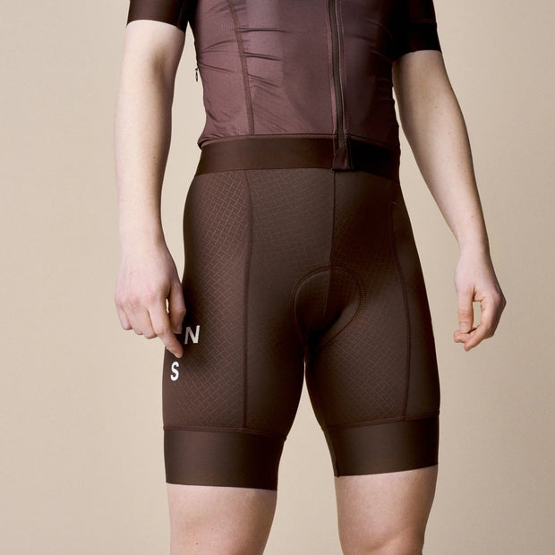 Women's Mechanism Bib Shorts Bronze - Maats