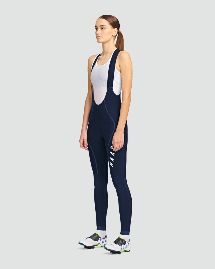 Women's Team Thermal Bib Tights Navy - Maats