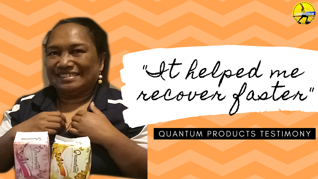 "QUANTUM NAPKIN AND PRODUCTS TESTIMONIAL - ""I RECOVERED FASTER"""