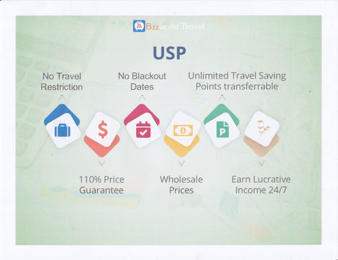 unique selling proposition for bzz world travel | Hasshtag HealThy
