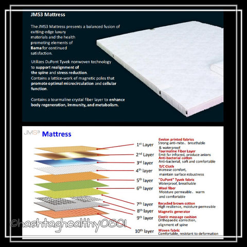 JMS3 Far Infrared Bio-Magnetic Mattress (Queen) | Hashtag HealThy