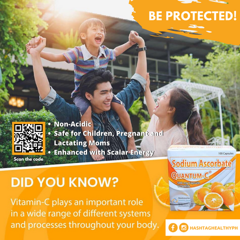 Quantum Vitamin C Sodium Ascorbate Enhanced with Scalar Energy | Hashtag HealThy