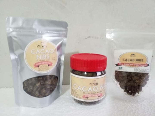 CACAO NIBS in Coconut Sugar (75 grams) - SUPER FOOD | Hashtag HealThy
