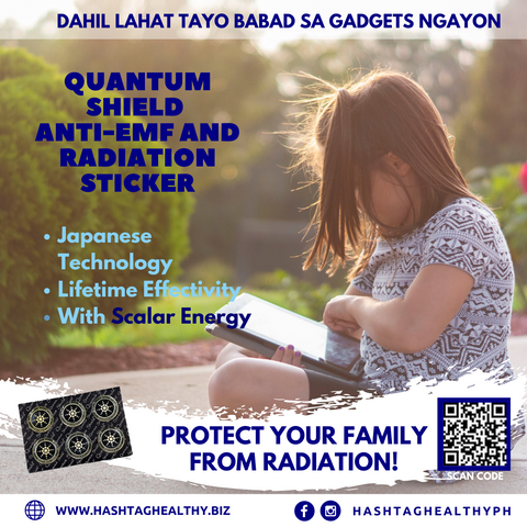 Quantum Shield Anti -Emf and Anti-Radiation Scalar Energy Sticker | Hashtag HealThy