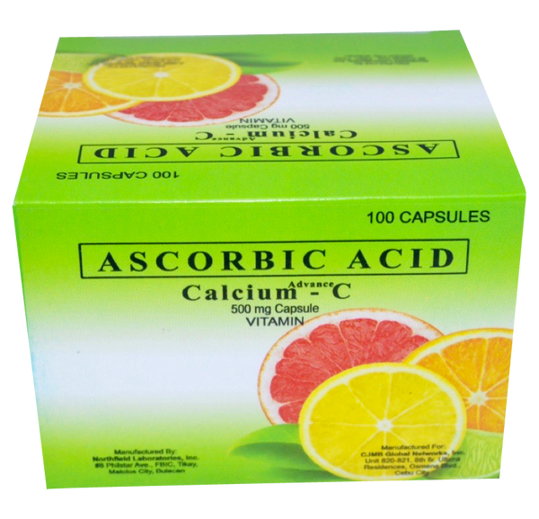 Calcium C- Ascorbic Acid (Vitamin C) with Calcium Enhanced with Scalar Energy