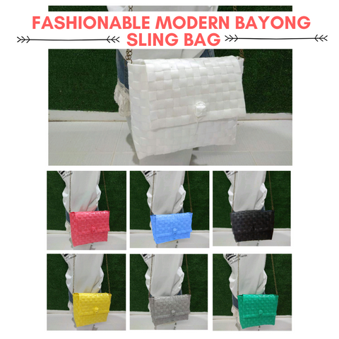 Modern Bayong Women's Sling Bag (with free Charm)