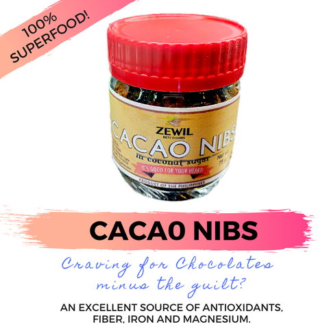 CACAO NIBS in Coconut Sugar (75 grams) - SUPER FOOD