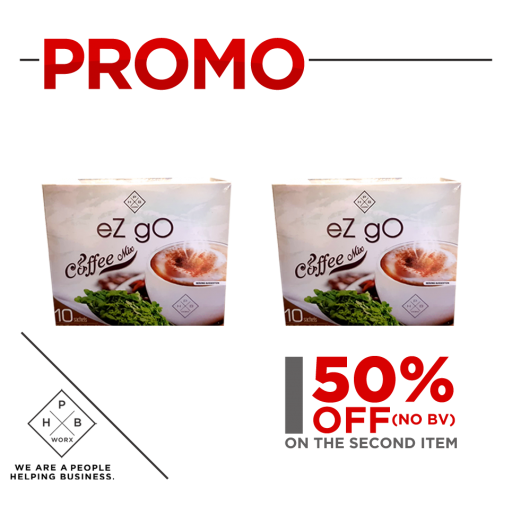 PROMO EZ GO COFFEE (BUY 1 GET SECOND AT 50% OFF)