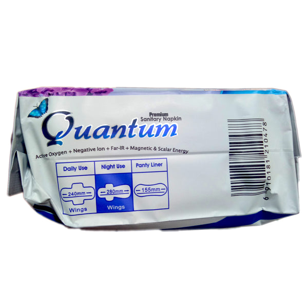 Quantum Premium Sanitary Liner and Napkin with Negative Ion and Scalar Energy