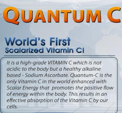 Quantum C: The Only Scalarized Vitamin C (Sodium Ascorbate)
