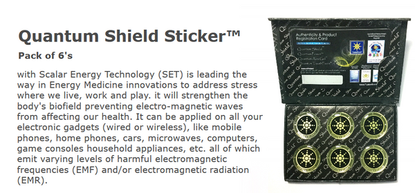 Quantum Shield Anti Radiation and EMF Sticker | Hashtag HealThy