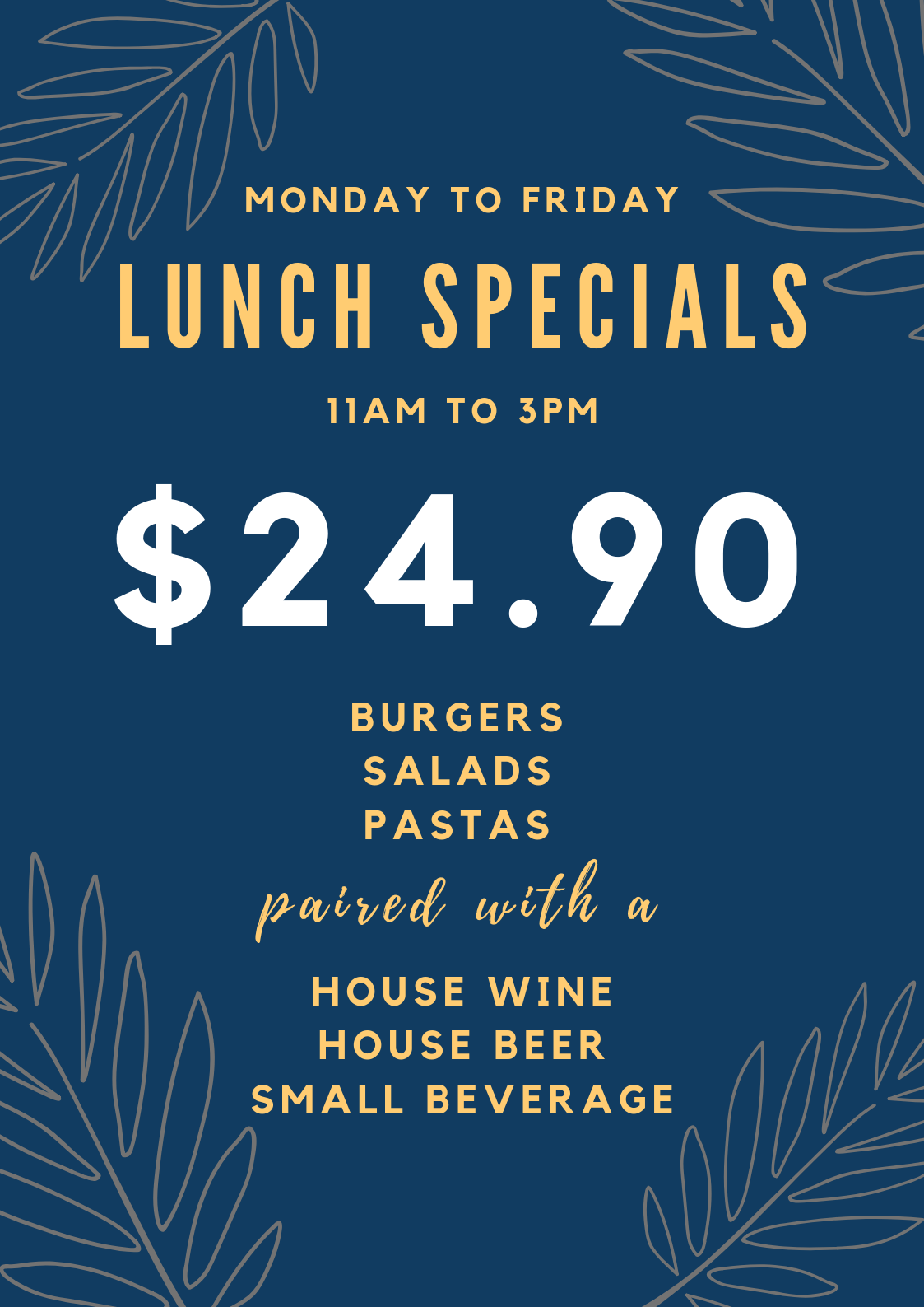 $24.90 Lunch Specials