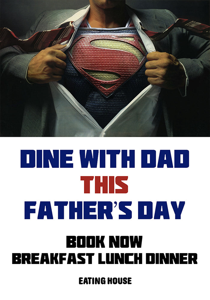 2017 Father's Day Poster Promotion Reservation Restaurant
