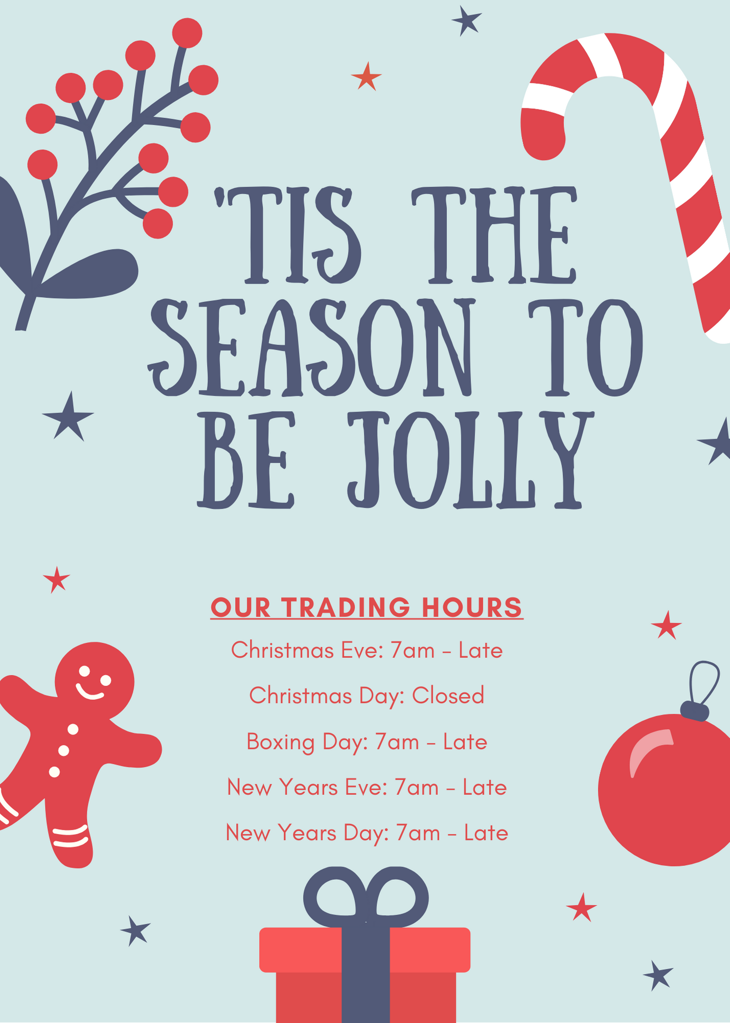 Eating House 2019 Christmas Trading Hours