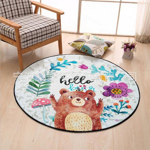 TAPIS ROND OURS - My Poppy Shop