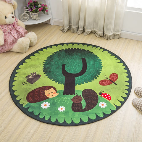 TAPIS ROND FORET - My Poppy Shop
