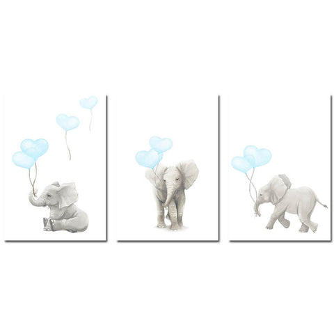 AFFICHE ELEPHANT BALLONS - My Poppy Shop