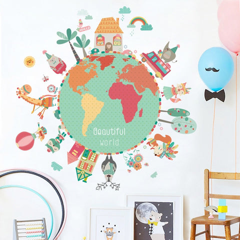 STICKER PLANETE ANIMAUX - My Poppy Shop
