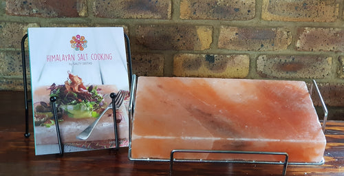 Combo - Himalayan Salt Cooking Book - Slab Buddy - Himalayan Crystal Salt Slab