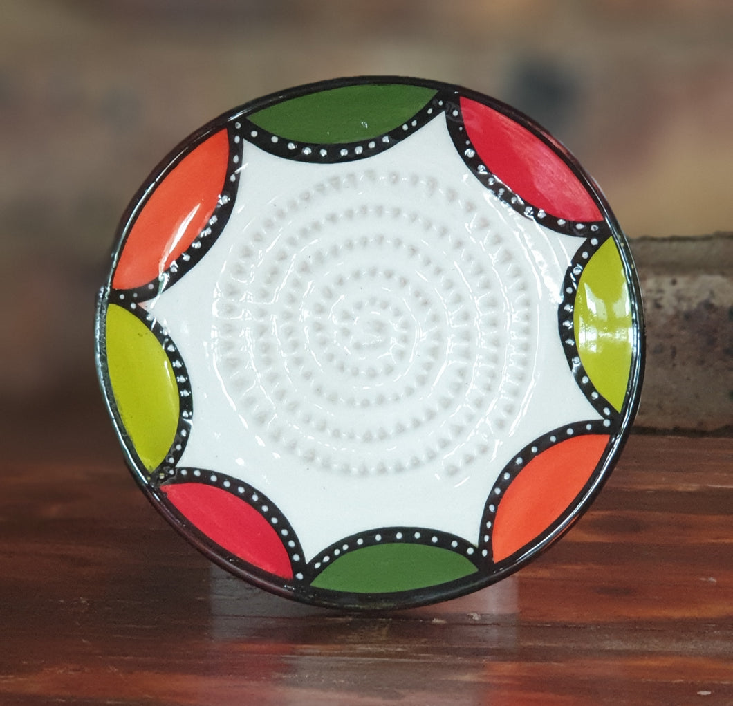 Colored Half Moon African Grater Plate