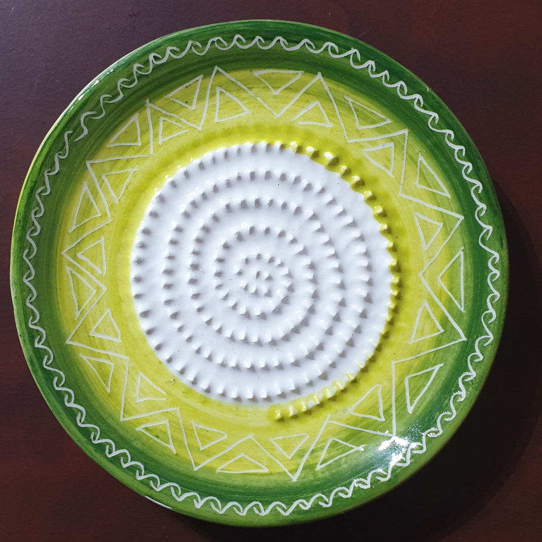 All Kinds of Green African Grater Plate