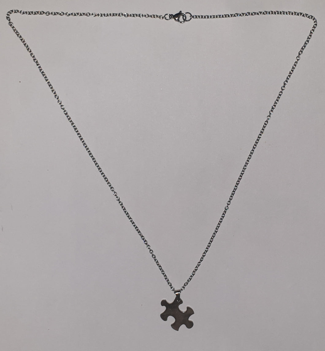 Puzzle Stainless Steel Necklace