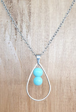 Blue Tear Drop Necklace