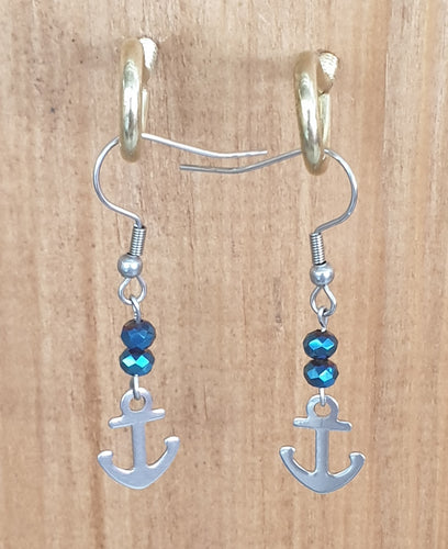 Anchor Stainless Steel Earrings