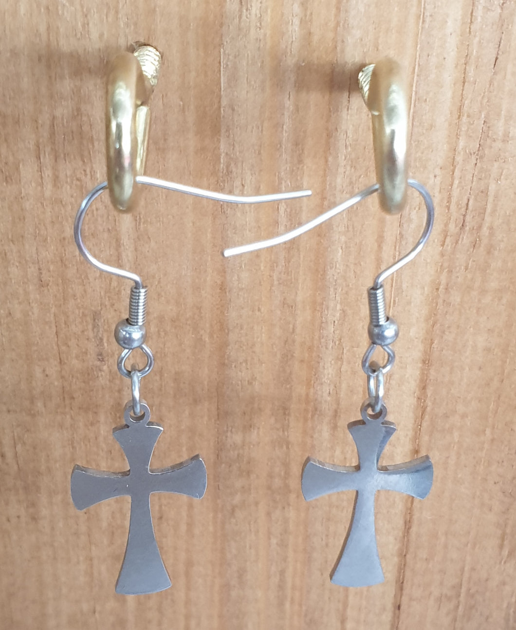 Cross Stainless Steel Earrings