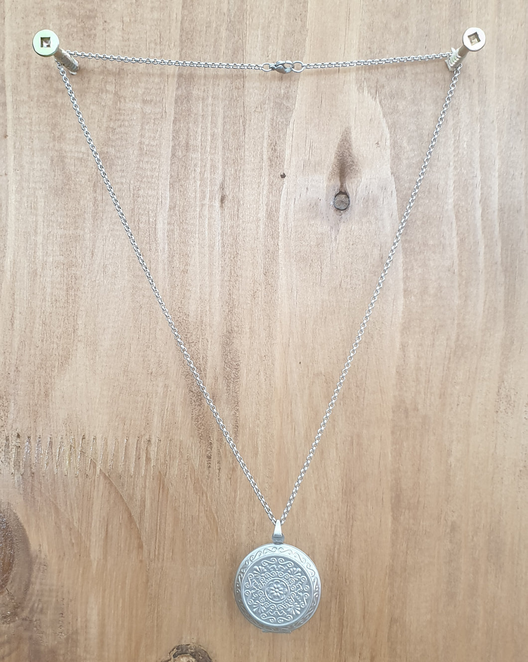 Round Pendant Stainless Steel Necklace