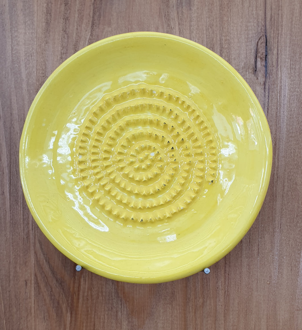 Yellow African Grater Plate