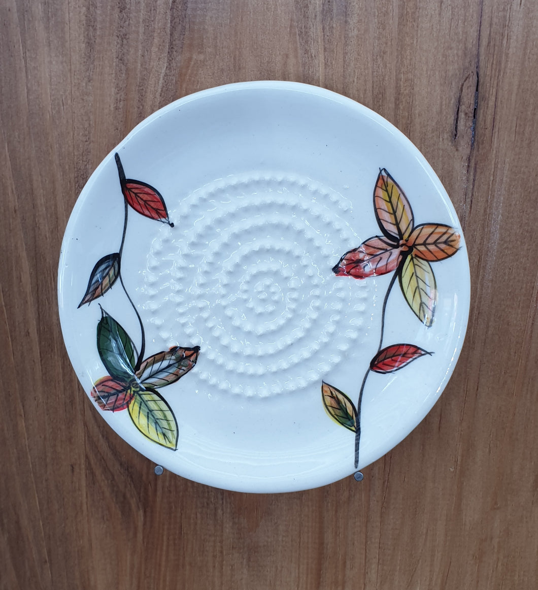 Leaf African Grater Plate