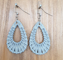 Grey Teardrop Earrings